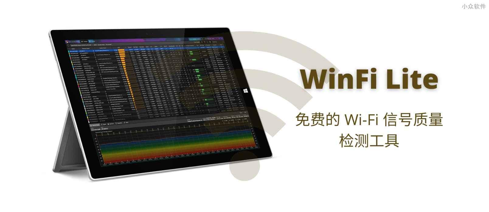 WinFi Lite – 免费的 Wi-Fi 信号质量检测工具[Windows]