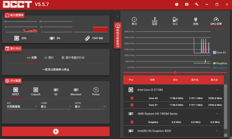 电源检测工具 OCCT v7.2.5 官方正式版单文件